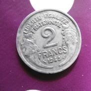 PIECE  DE  2  FRANCS  MORLON  ALU  2.2  GR  DIAM  27MM  1945  C - I. 2 Francs