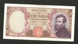 ITALIA - BANCA D' ITALIA - 10000 Lire MICHELANGELO (Firme: Carli / Pacini - Decr. 04/01/1968) - [ 2] 1946-… : Repubblica