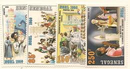 SÉNÉGAL Scott 696-699 Yvert 680-683 (4) ** 1986 Cote 5,00$ - Sénégal (1960-...)