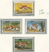 SÉNÉGAL Scott 677-680 Yvert 661-664 (4) ** 1986 Cote 10,00$ - Sénégal (1960-...)