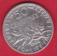France 50 Centimes Semeuse 1906 - France