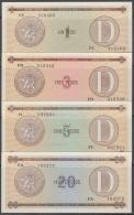 1985-BK-158 CUBA 1985. 1, 3, 5, 20$ CERTIFICADO DE DIVISA SERIES D. UNC. - Cuba