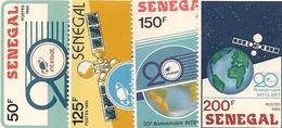 SÉNÉGAL Scott 724-727 Yvert 707-710 (4) ** 1987 Cote 4,75$ - Sénégal (1960-...)