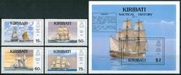 1990 Kiribati Velieri Navi Sailing Boat Ships Bateaux A Voile Set + Block MNH** B54 - Kiribati (1979-...)