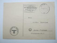 1944 , Atlantikfestung St.Nazaire , Funknachrichtenkarte Vom 16.12.1944 Via Berlin , Sehr Gute Erhaltung - Allemagne
