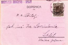 Sokolsko Drustvo Split - Dopisnica 1931 - Kroatien