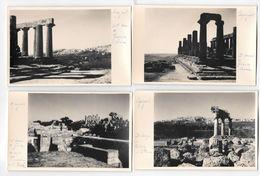 AGRIGENTO TEMPIO DI GIOVE - CASTORE E POLLUCE GIUNONE 4  FOTO CARTOLINE - 1953 - Agrigento