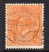 Australia 1931-6 ½d Orange GV Head, Wmk. 15, Used (SG124) - Used Stamps