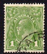 Australia 1931-6 1d Green GV Head, Wmk. 15, Used (SG125) - 1913-36 George V: Heads