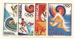 SÉNÉGAL Scott 786-789 Yvert 768-771 (4) ** 1988 Cote 7,25$ - Sénégal (1960-...)