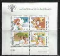 PORTOGALLO PORTUGAL 1979 ANNO DEL FANCIULLO CHILD YEAR BLOCK SHEET BLOCCO FOGLIETTO BLOCK FEUILLET MNH - Blocks & Kleinbögen