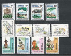 SÉNÉGAL Scott 806-809, 825-826, 829-832 Yvert 789-792, 822-825, 829-832 (12) ** Cote 10,00$ 1989 - Sénégal (1960-...)