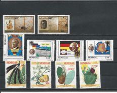 SÉNÉGAL Scott 1040-1, 1024-5, 1032-5 Yvert 1017-8, 1009-12, 1013-6 (10) ** Cote 12,50 $ 1992 - Sénégal (1960-...)