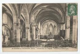 38 - Isère - St Saint Geoire En Valdaine L'intérieur De L'église 1924 - Saint-Geoire-en-Valdaine