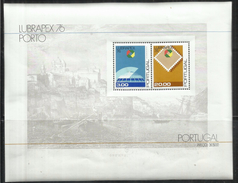 PORTUGAL PORTOGALLO 1976 BLOCCO FOGLIETTO LUBRAPEX BLOCK SOUVENIR SHEET BLOC FEUILLET MNH - Blocks & Kleinbögen