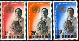 WHO Emblem & Eye Examination, Trinidad & Tobago Stamp SC#133-135 MNH Set - Trinité & Tobago (1962-...)