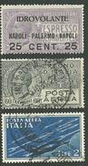 1917-32 - REGNO D´ITALIA - POSTA AEREA - 3 VALORI - SIGNED  - SPL - EURO 45,00 - 1900-44 Victor Emmanuel III