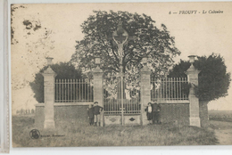 59 - Nord - Prouvy Le Calvaire Animée Croix Du Christ 1923 - Other Municipalities