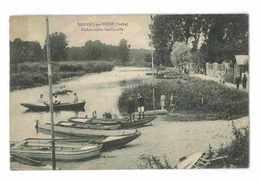 CPA 10 NOGENT-SUR-SEINE EMBARCADERE GARLINVILLE - Nogent-sur-Seine