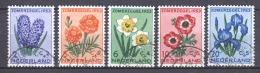 Netherlands 1953 NVPH 602-606 Canceled FLOWERS - 1949-1980 (Juliana)