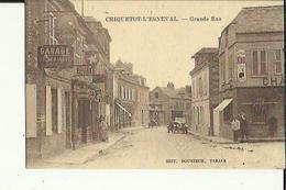 Criquetot-l'Esneval  76    La Grande-Rue  Animée_Voitures _Epicerie-Tabac - Garage Avec Pompe A Essence - Criquetot L'Esneval