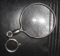 Monocle Complet Belle Epoque Optique Verre Lunettes Cerclage Argent - Lunettes