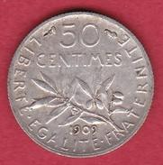 France 50 Centimes Semeuse 1909 - France