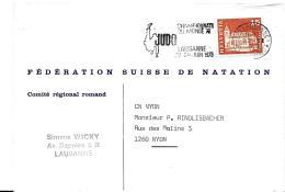 """30149 - Enveloppe Suisse Avec Oblit Mécanique """"Judo Champ De Monde 1973 Lausanne"""""""