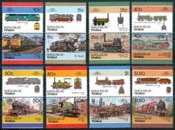 1984 Nukulaelae (Tuvalu) Trains Treni Railways Locomotive Locomotives Set MNH** B495-1 - Tuvalu