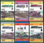 1984 Funafuti (Tuvalu) Trains Treni Railways Locomotive Locomotives Set MNH** B495-2 - Tuvalu