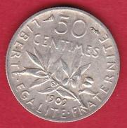 France 50 Centimes Semeuse 1909 - G. 50 Centimes