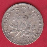 France 50 Centimes Semeuse 1910 - France