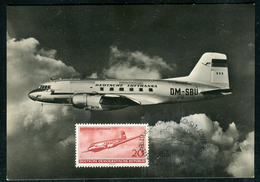 Allemagne - Carte Maximum 1957 , Avion , Lufthansa - DDR