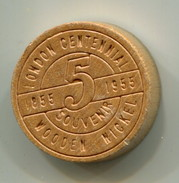 1955 London Ontario Canada Centennial Souvenir Wooden Nickel - Monetary /of Necessity