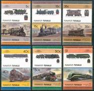 1984 Funafuti (Tuvalu) Trains Treni Railways Locomotive Locomotives Set MNH** B495-3 - Tuvalu