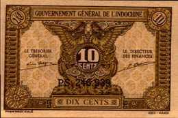 INDOCHINE Gouvernement Général 10 CENTS De 1942nd Pick 89a  UNC/SUP - Indochina