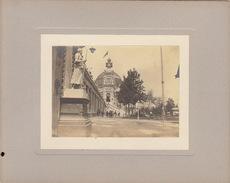 Photo Sur Carton Exposition D'anvers 1894 - Lieux