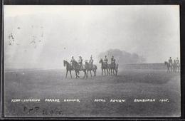 CPA ECOSSE - Edinburgh, King Entering Parade Ground - 1906 - Midlothian/ Edinburgh