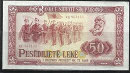 ALBANIA 1976 BANCONOTA BANKNOTE BILLET LEKE 50 LEK - Albania