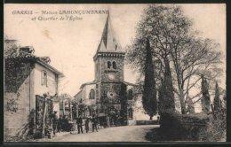 CPA Garris, Maison Lahuncumbarne Et Quartier De L´église - France