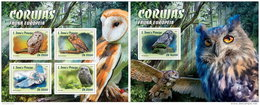 SAO TOME 2016 ** European Owls Eulen Hiboux M/S+S/S - OFFICIAL ISSUE - A1636 - Eulenvögel