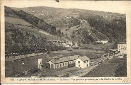 69 - SAINT-VINCENT-de-REINS  - La Gare -Vue Panoramique - Andere Gemeenten