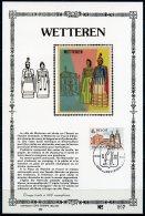 BE 1909   ---  Wetteren  --  Sujet Sur Soie Feuillet Numéroté Sony Stamp -  Obl. Wetteren - V. Fran. - Feuillets