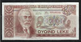 ALBANIA 1992 BANCONOTA BANKNOTE BILLET LEKE 200 LEK - Albanie