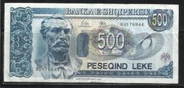 ALBANIA 1994 BANCONOTA BANKNOTE BILLET LEKE 500 LEK - Albania