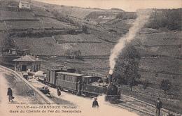 VILLE SUR JARNIOUX (69) Gare Du Chemin De Fer Du Beaujolais - Ohne Zuordnung
