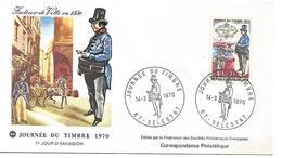FDC 1970 JOURNEE DU TIMBRE SELESTAT - FDC
