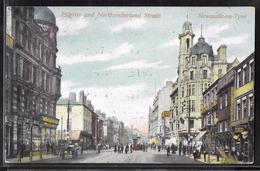 REPRODUCTION ANGLETERRE - Newcastle-On-Tyne, Pilgrim And Northumberland Streets - Newcastle-upon-Tyne