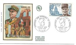 FDC 1970 MARECHAL JUIN - FDC