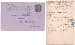 ENTIER POSTAL CARTE POSTALE Pour MALINES BELGIQUE Avec CAD BLEU De 1885 PARIS ETRANGER + DAGUIN LYON DEPART - Postmark Collection (Covers)
